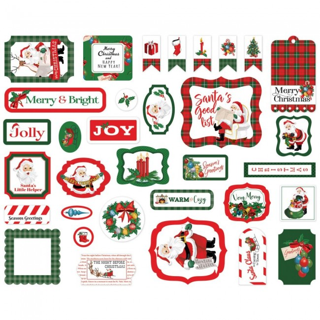 Die Cuts Dear Santa Icons