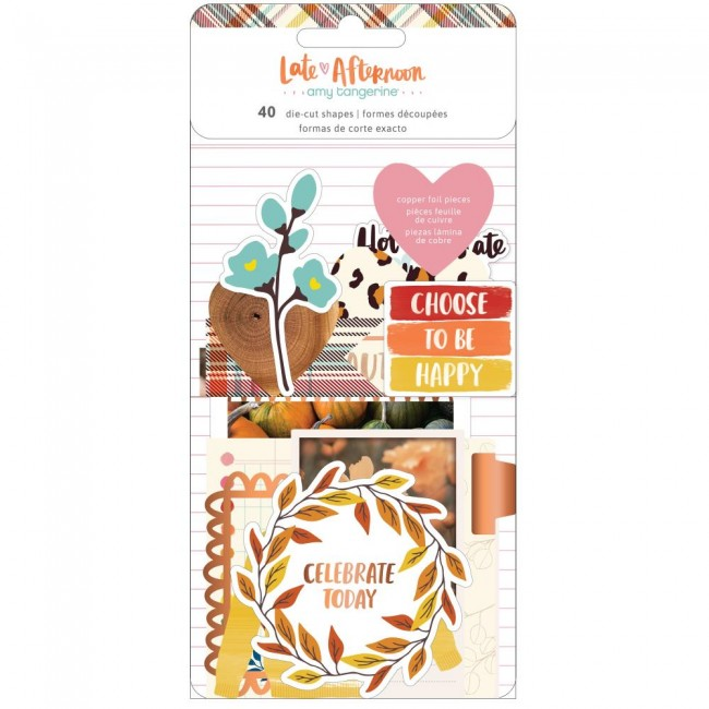 Die Cuts Late Afternoon Amy Tangerine Cardstock With Foil Accents