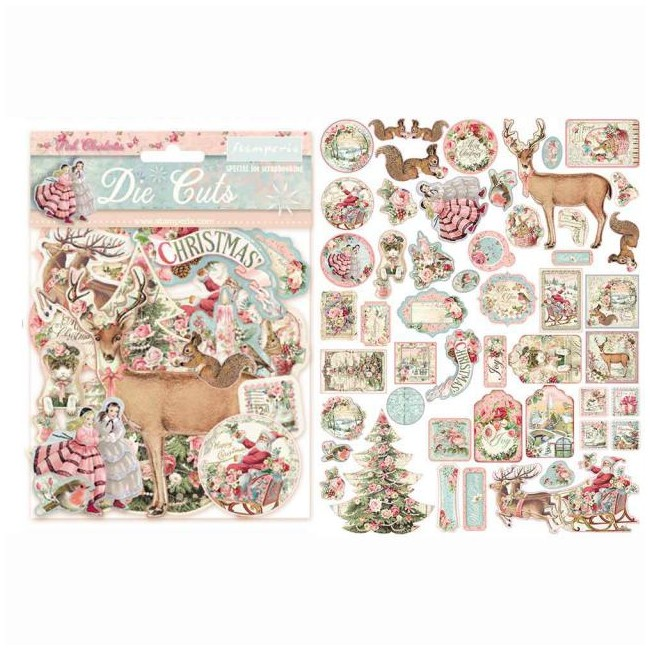 Die Cuts Pink Christmas