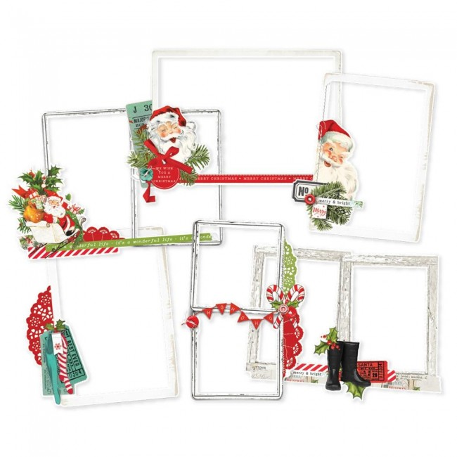 Die Cuts Simple Vintage North Pole Frames