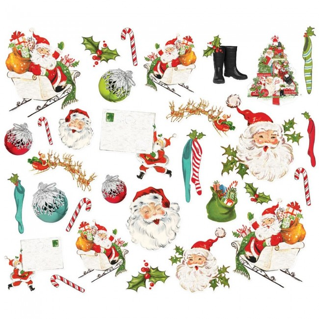 Die Cuts Simple Vintage North Pole Santa