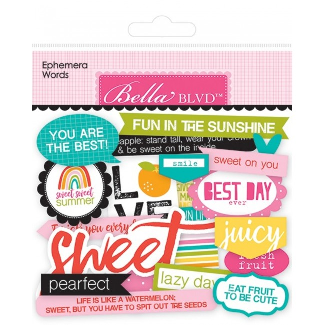 Die Cuts Squeeze The Day Words