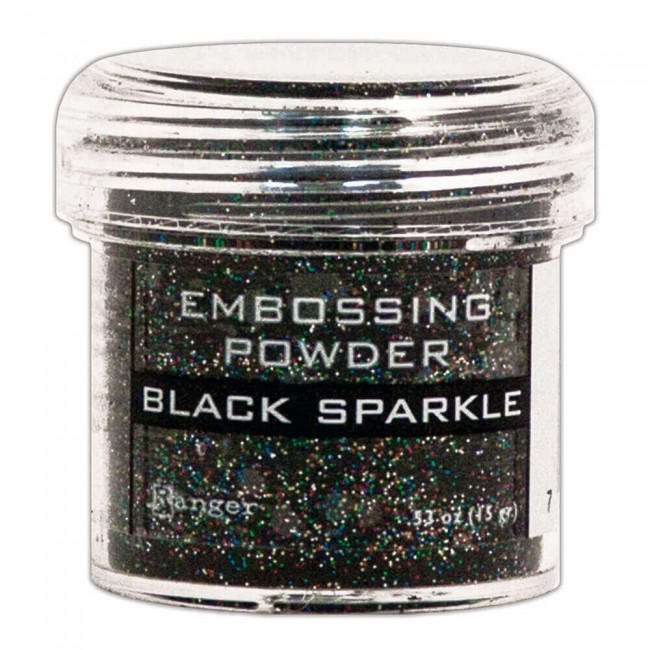 Polvos de Embossing Black Sparkle