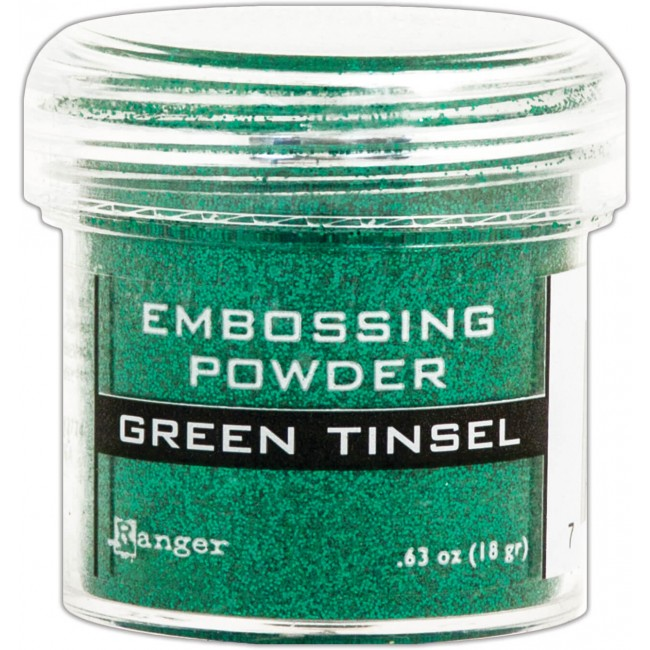 Polvos de Embossing Green Tinsel