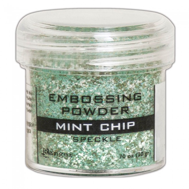Polvos de Embossing Ranger Speckle Mint Chip