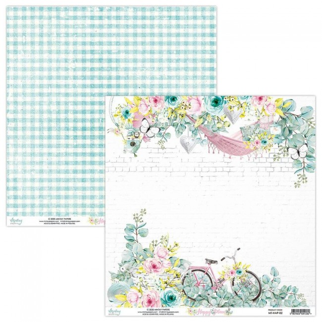 Papel Estampado Doble Cara 12x12 Happy Place 02