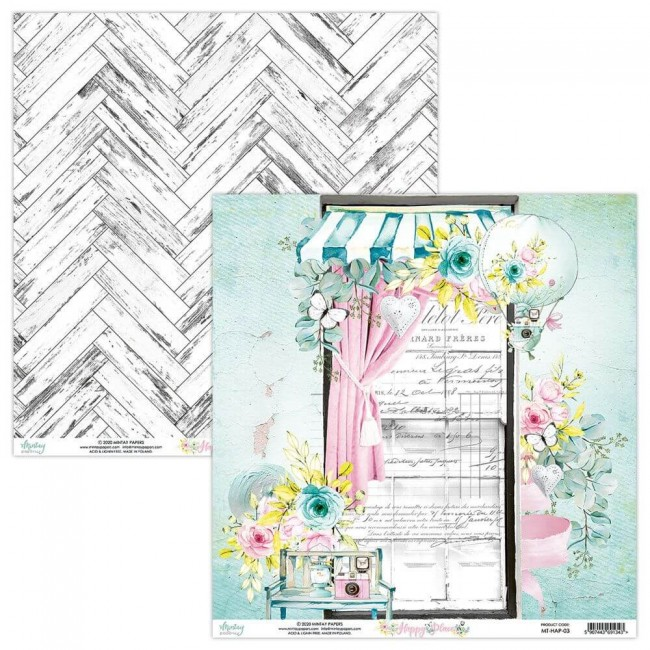 Papel Estampado Doble Cara 12x12 Happy Place 03