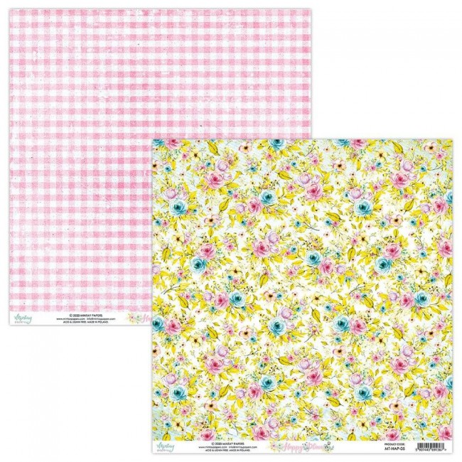 Papel Estampado Doble Cara 12x12 Happy Place 05
