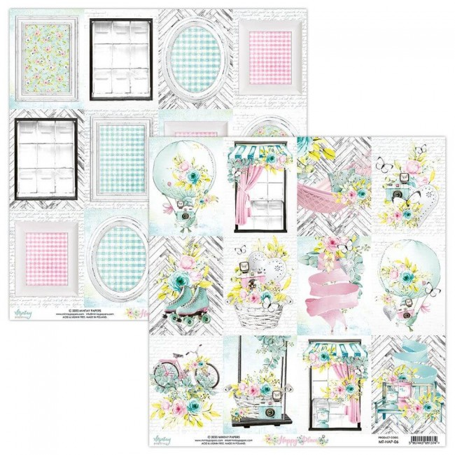Papel Estampado Doble Cara 12x12 Happy Place 06