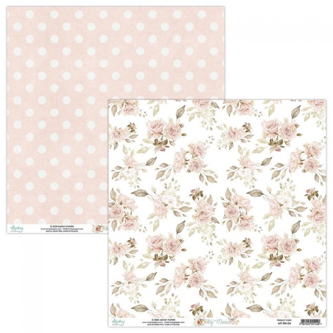 Papel Estampado Doble Cara 12x12 Tiny Miracle 04