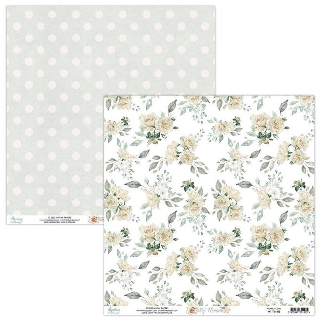 Papel Estampado Doble Cara 12x12 Tiny Miracle 05