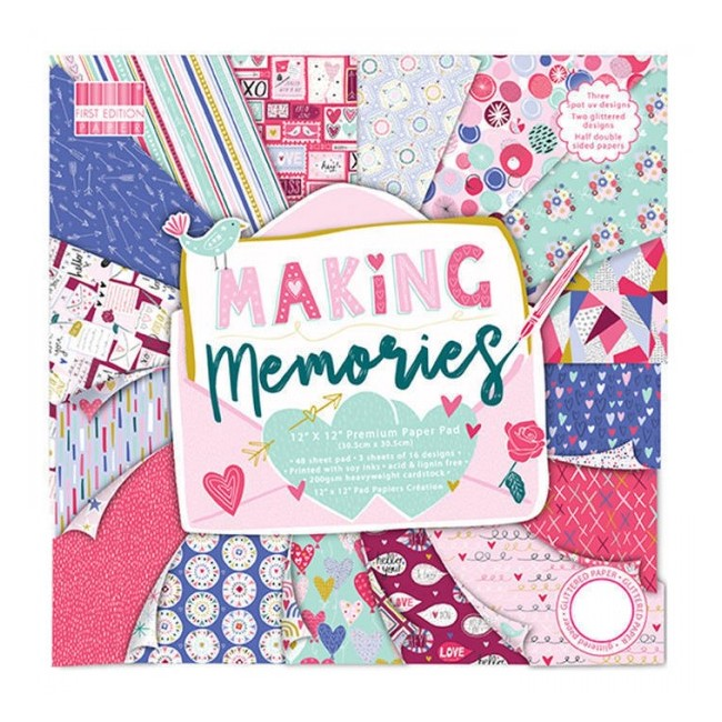 Stack Papeles Estampados 12x12 Making Memories