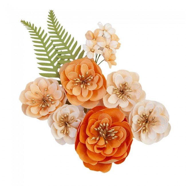 Flores de Papel Pumpkin & Spice Together