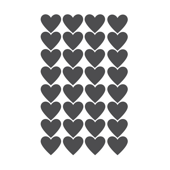 Hearts Wall Decal -30% DESCUENTO