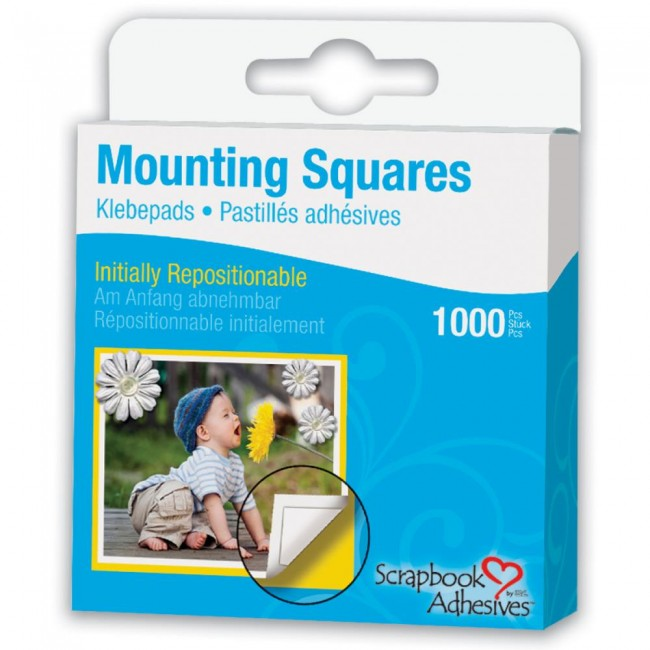 1000 Mounting Squares Reposicionable
