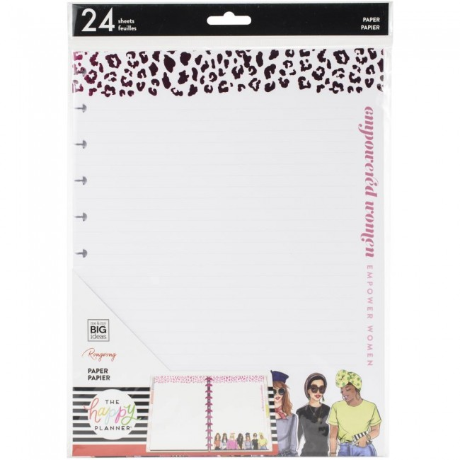 Inserto hojas de relleno para Happy Planner Grande Empowered Women Foil X Rongrong