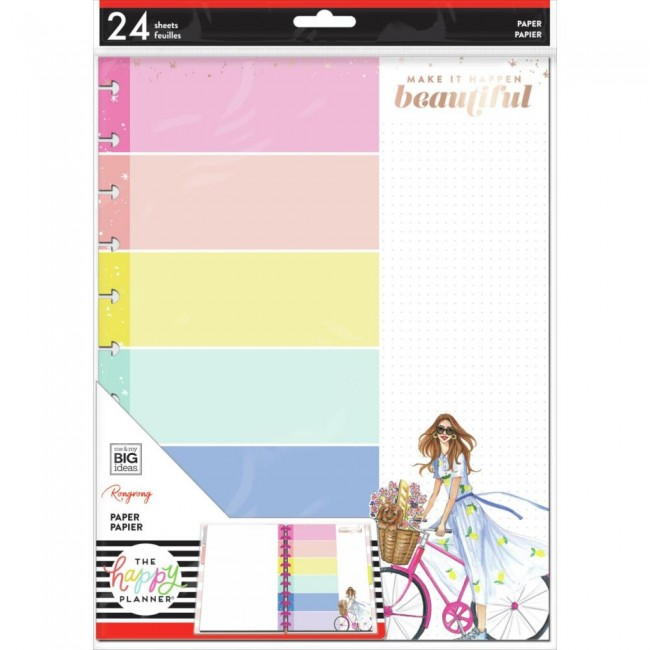 Inserto hojas de relleno para Happy Planner Grande Enjoy The Ride Foil X Rongrong