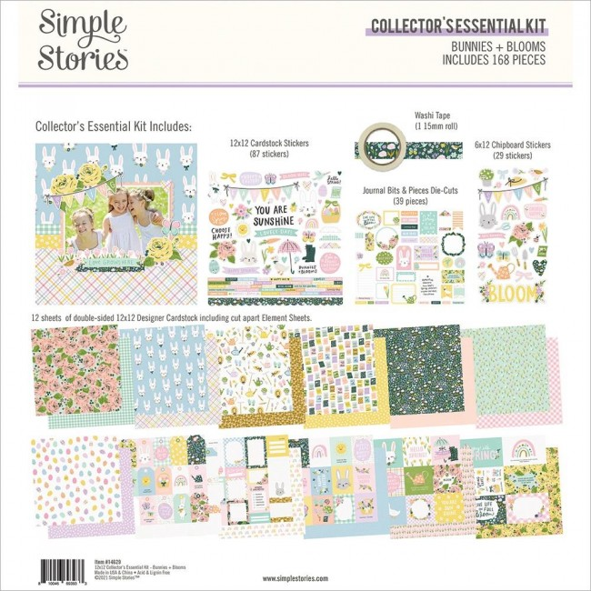 Kit Papeles Collector Essential Bunnies & Blooms
