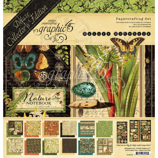 Kit Papeles Collector's Deluxe Natures Notebook