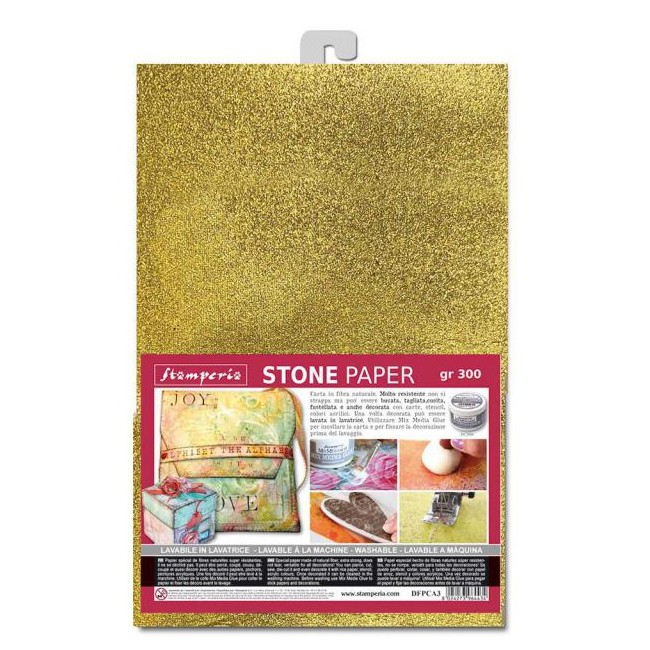 Kit Papel Piedra A4 Alice ST Gold