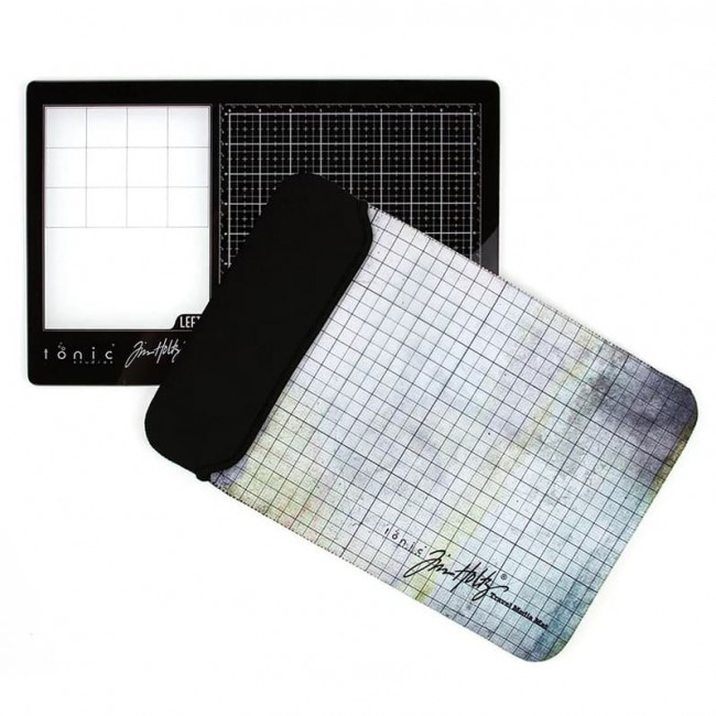 Base de corte Travel Glass Media Mat Para Zurdos