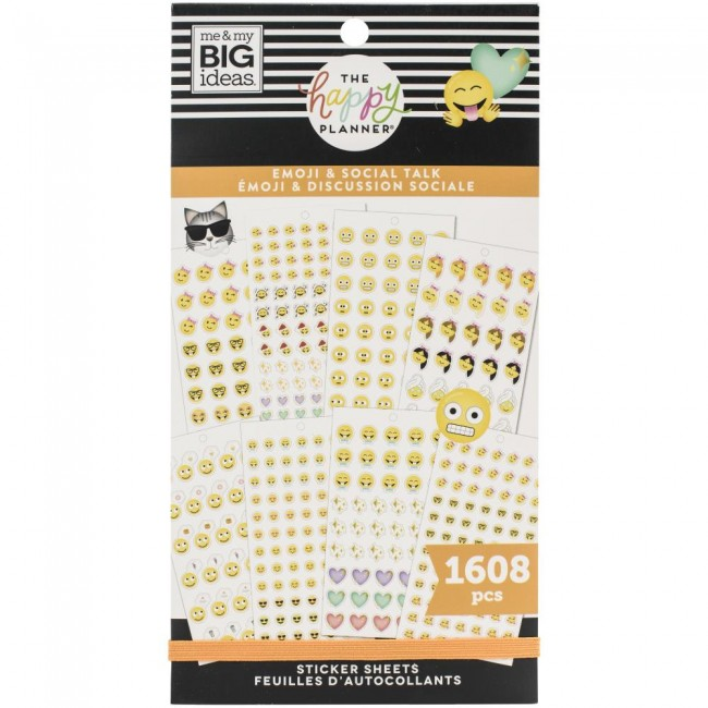 Libro de pegatinas Value Pack Emoji & Social Talk