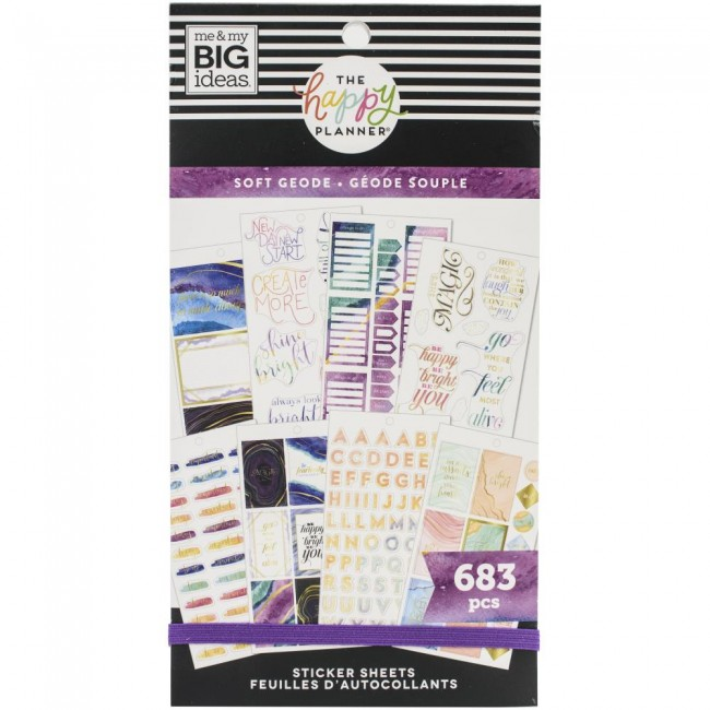 Libro de pegatinas Value Pack Soft Modern Geode
