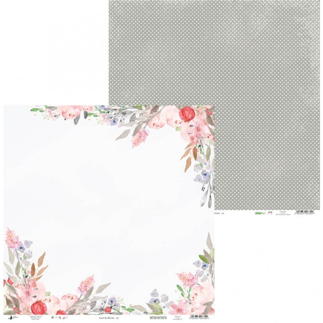 Papel Estampado Doble Cara 12x12 Love In Bloom 02