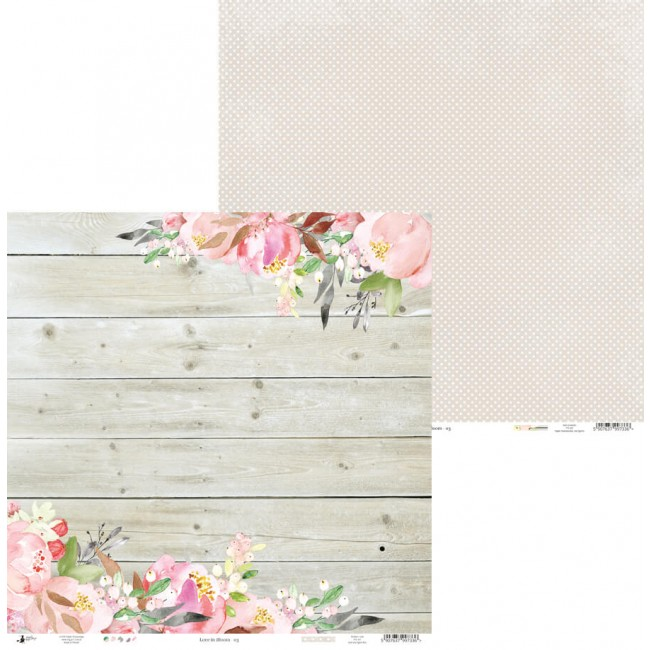 Papel Estampado Doble Cara 12x12 Love In Bloom 03