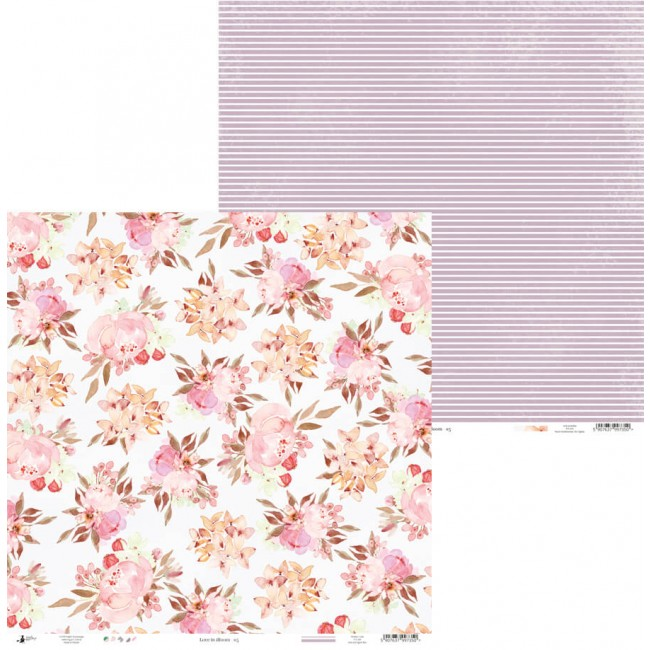 Papel Estampado Doble Cara 12x12 Love In Bloom 05
