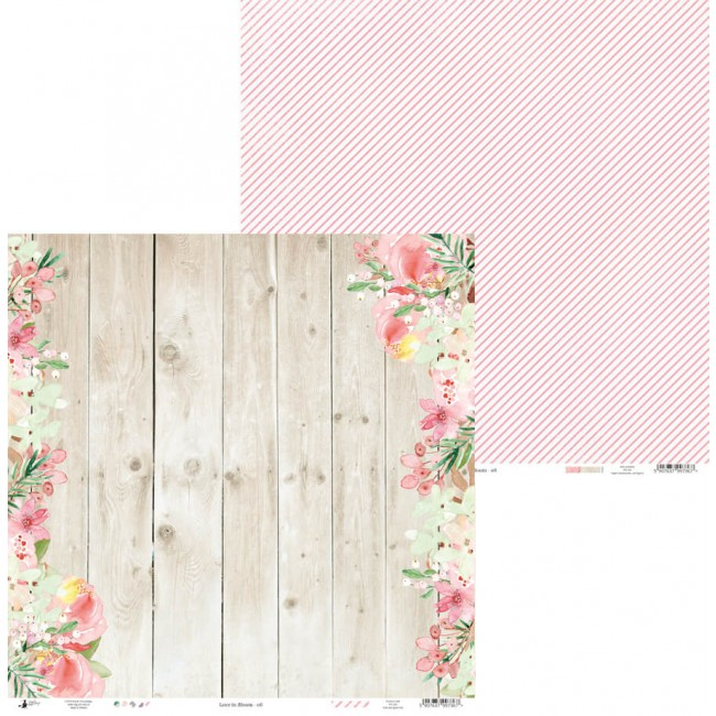Papel Estampado Doble Cara 12x12 Love In Bloom 06