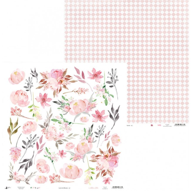 Papel Estampado Doble Cara 12x12 Love In Bloom 07