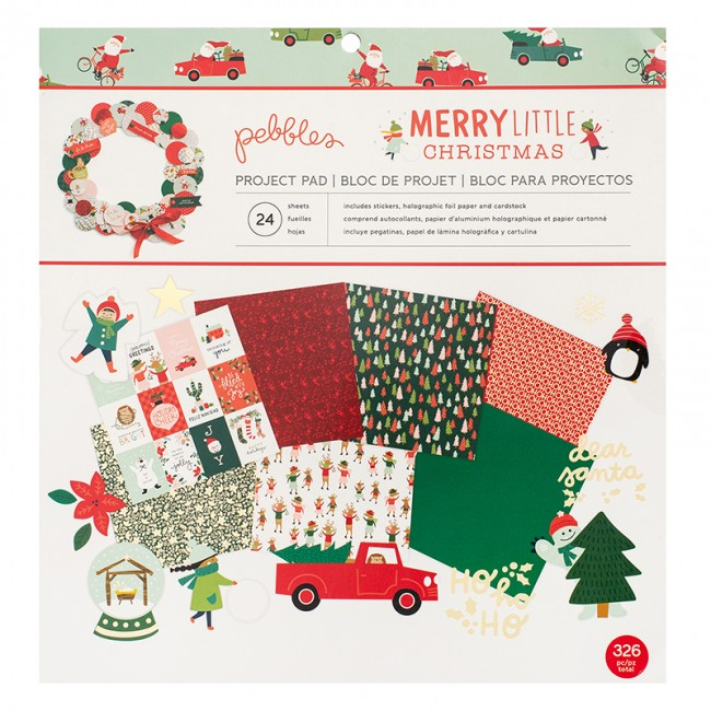 Kit Papeles Project Pad 12x12 Merry Little Christmas