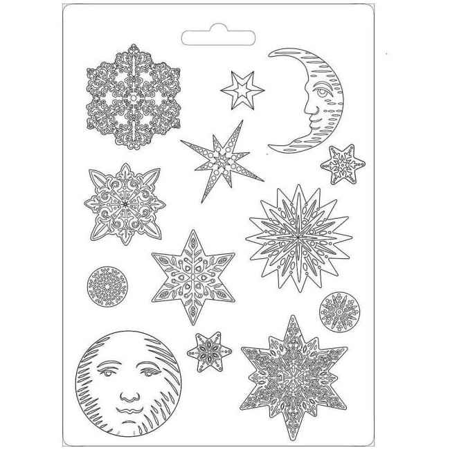 Molde A4 Winter Tales Snowflakes