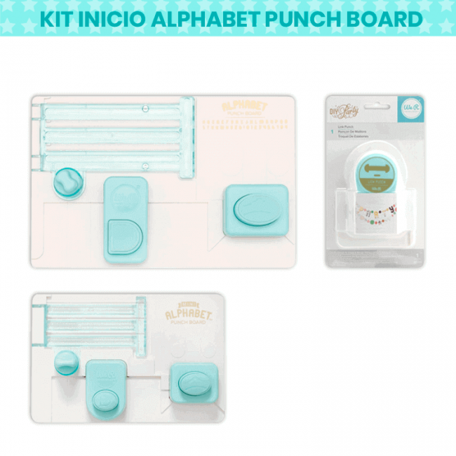 Kit Alphabet Punch Board + Mini Alphabet Punch Board + Link Punch