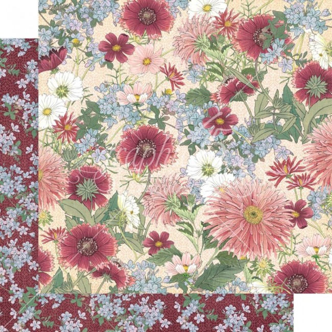 Papel Estampado Doble Cara 12x12 Blossom Flourish