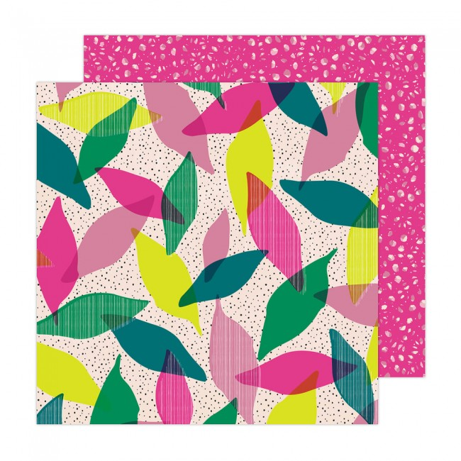 Papel Estampado Doble Cara 12x12 Brave + Bold Amy Tangerine Brave and Bold