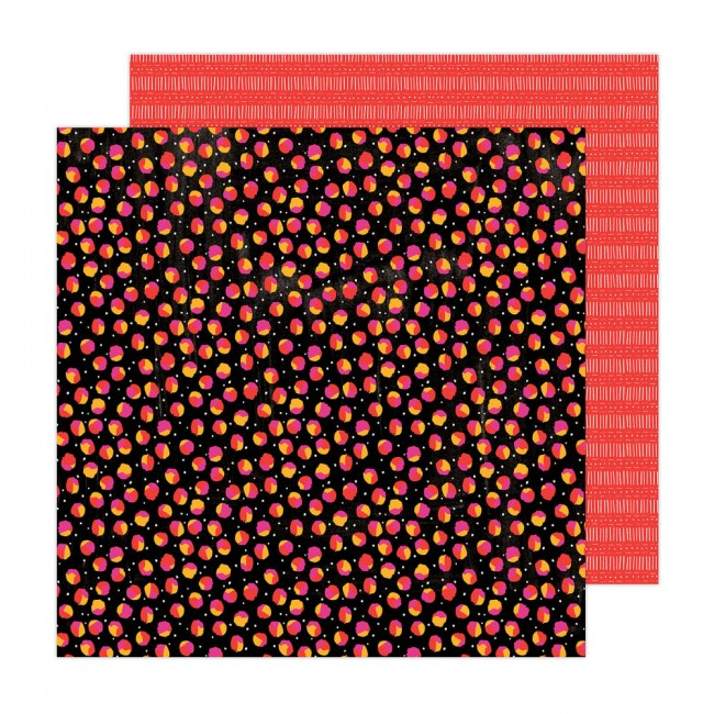 Papel Estampado Doble Cara 12x12 Brave + Bold Amy Tangerine Scattered Spots