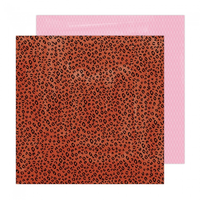 Papel Estampado Doble Cara 12x12 Brave + Bold Amy Tangerine Wild Child
