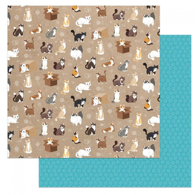 Papel Estampado Doble Cara 12x12 Cat Lover Soft Kitty