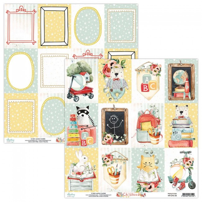 Papel Estampado Doble Cara 12x12 Childhood 6