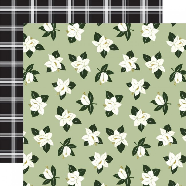Papel Estampado Doble Cara 12x12 Coffee and Friends Frothy Flowers