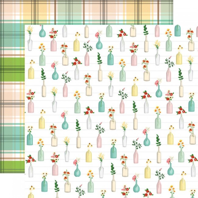Papel Estampado Doble Cara 12x12 Farm to Table Bus