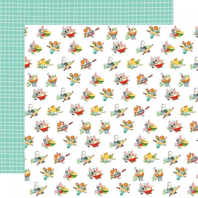 Papel Estampado Doble Cara 12x12 Farm to Table Floured Flowers