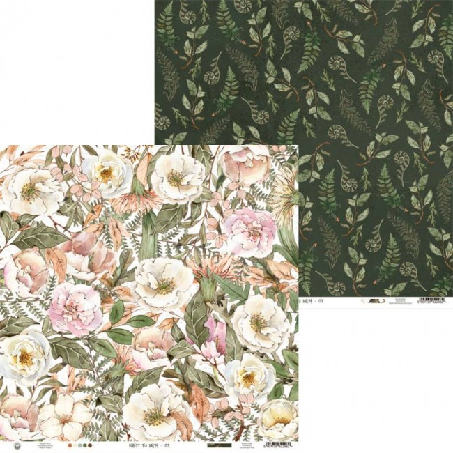 Papel Estampado Doble Cara 12x12 Forest Tea Party 03