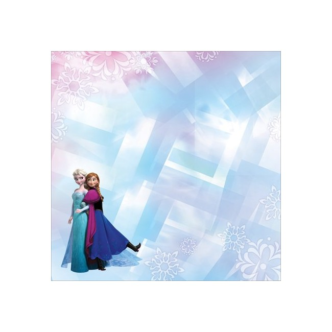 Papel Estampado Doble Cara 12x12 Frozen sisters