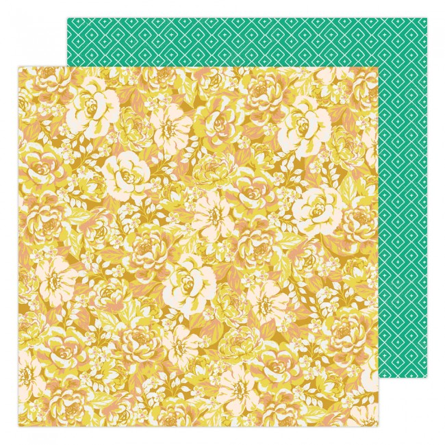 Papel Estampado Doble Cara 12x12 Garden Party Maggie Holmes Cluster of Blooms