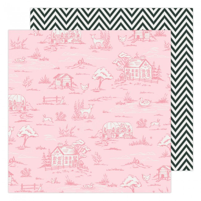 Papel Estampado Doble Cara 12x12 Garden Party Maggie Holmes Countryside