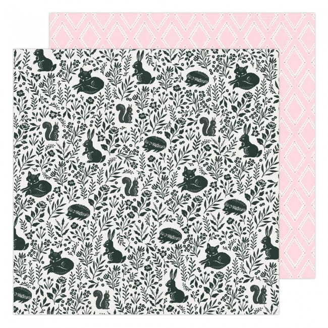 Papel Estampado Doble Cara 12x12 Garden Party Maggie Holmes Garden Friends