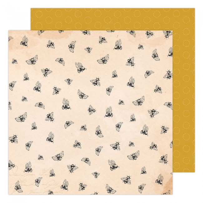 Papel Estampado Doble Cara 12x12 Garden Party Maggie Holmes Honey Bees